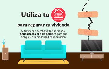 Utiliza tu Crédito Tradicional del FOVISSSTE para reparar tu vivienda