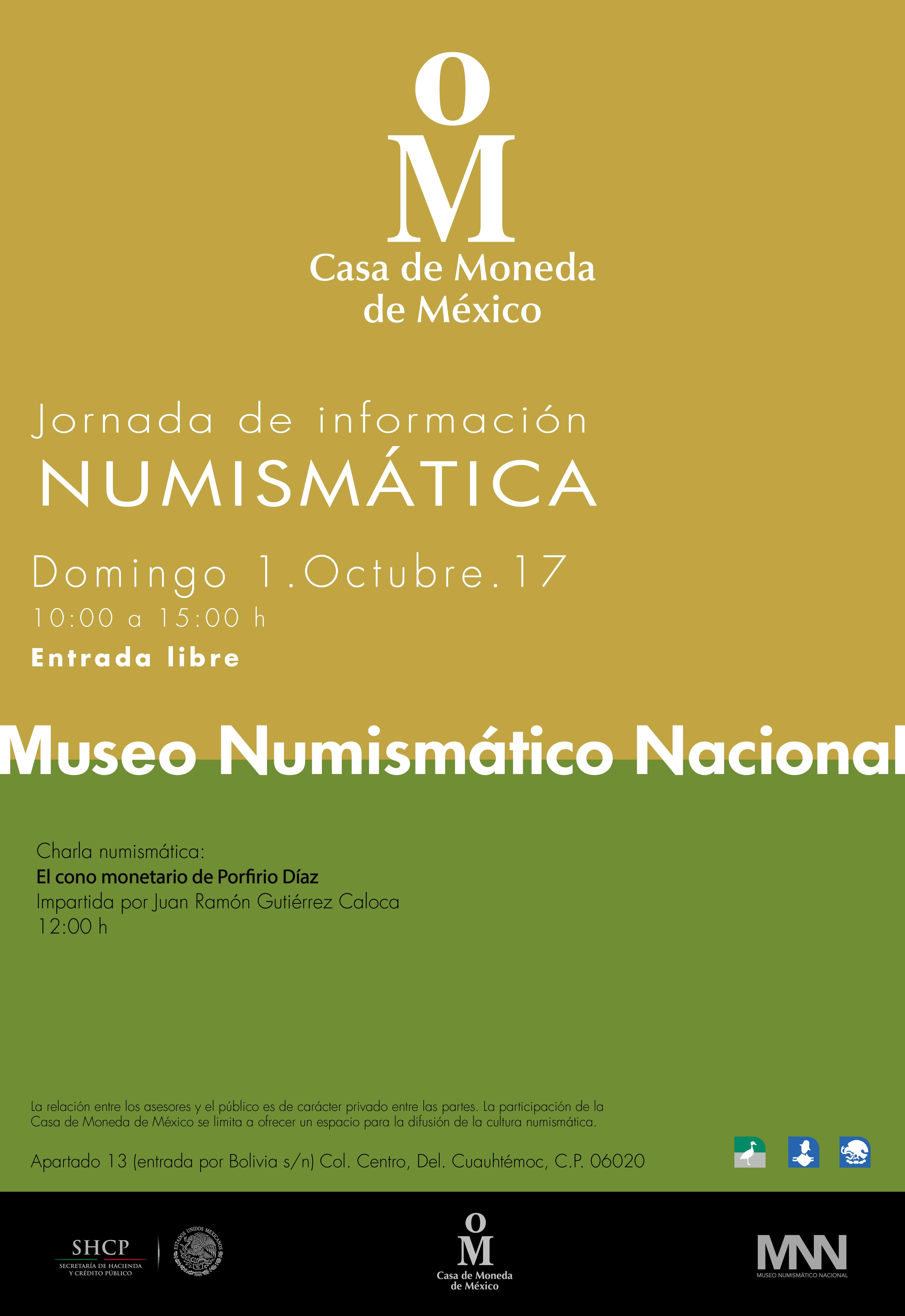 Cartel Jornada de Información Numismática