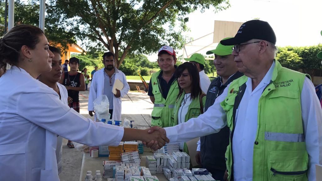 Supervisa José Narro actividades en zonas de Chiapas afectadas por sismo