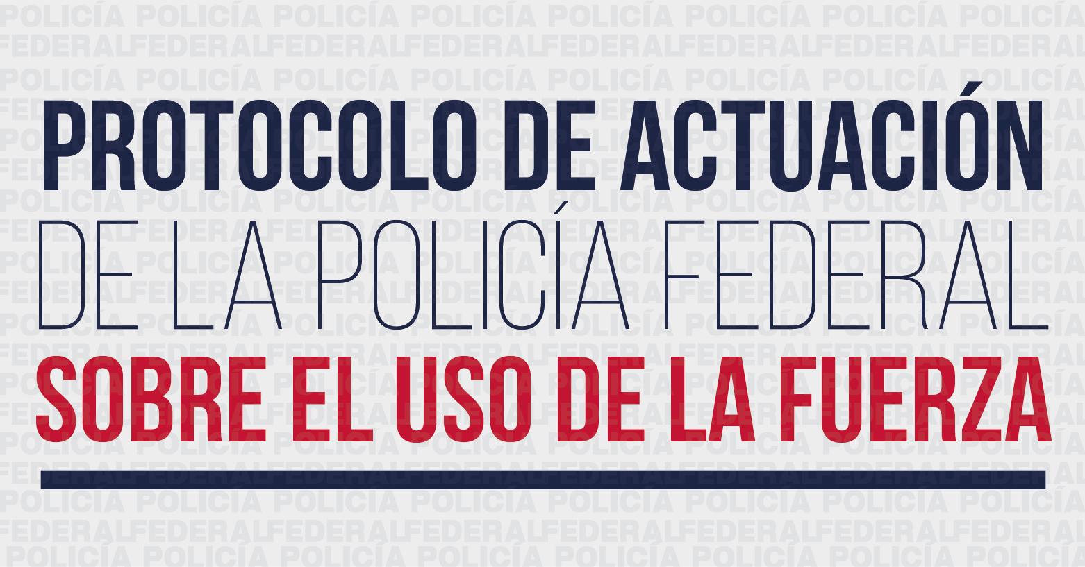 Protocolo de actuación de la Policía Federal sobre el uso de la fuerza