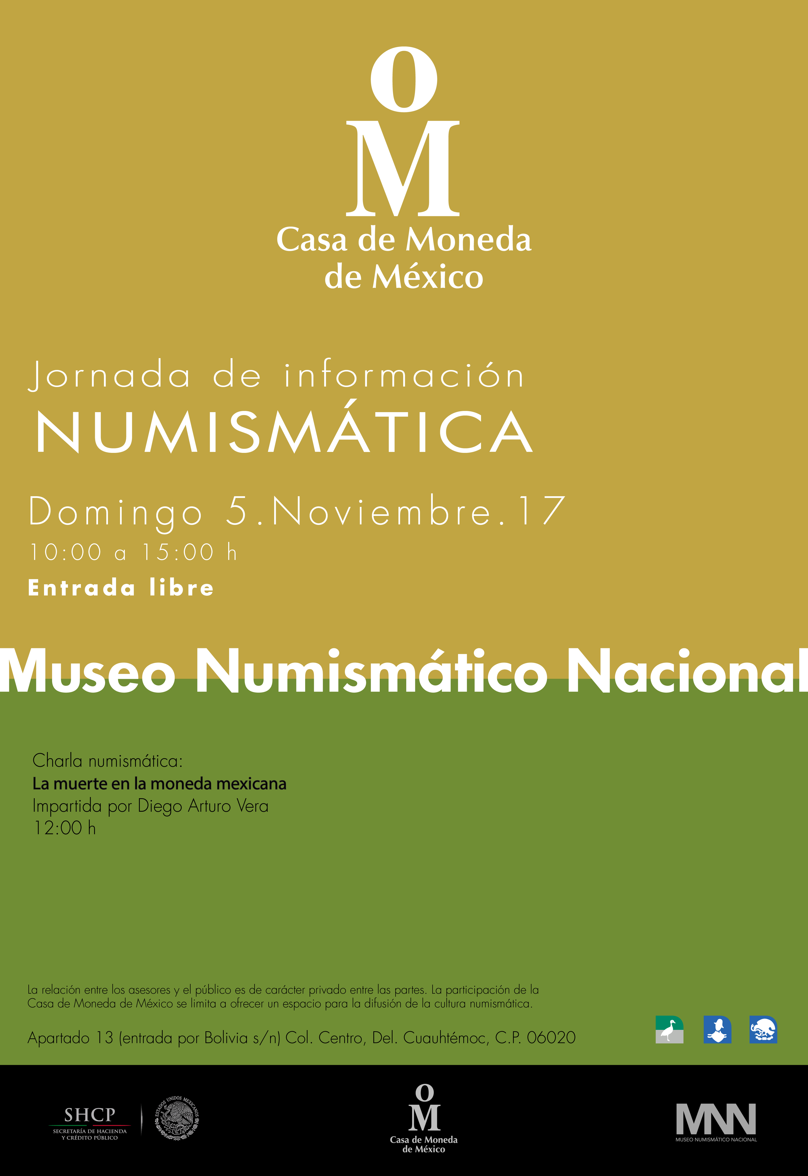 Jornada de Información Numismática de noviembre