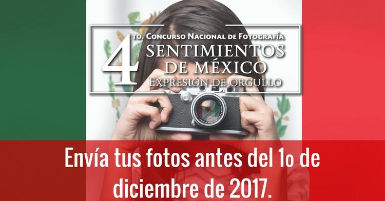 Se amplía el periodo de recepción de imágenes para el 4º Concurso Nacional de Fotografía Sentimientos de México
