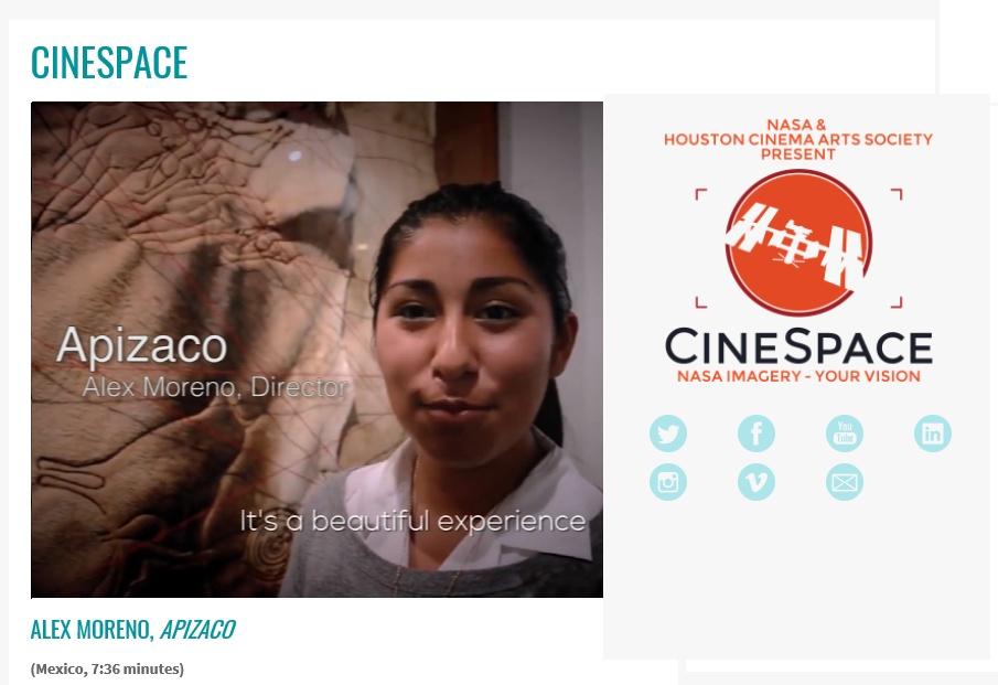 """Llega cortometraje mexicano a final de concurso """"Cinespace"""" de NASA y Houston Cinema Arts Festival"""