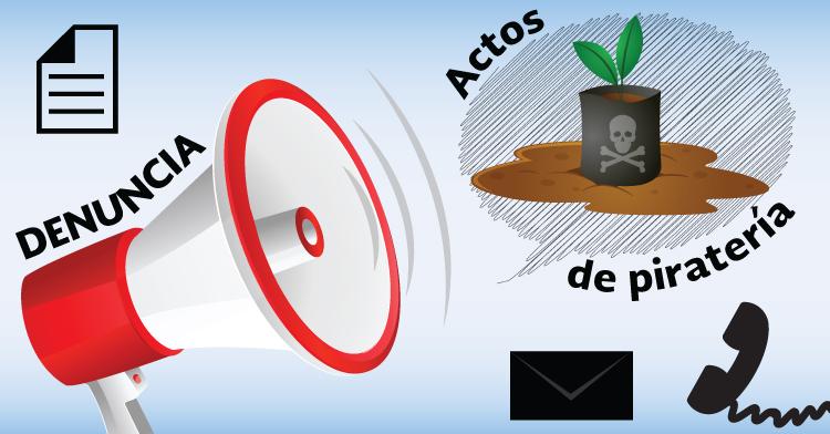 Denuncia en línea y telefónica para actos de piratería de semillas