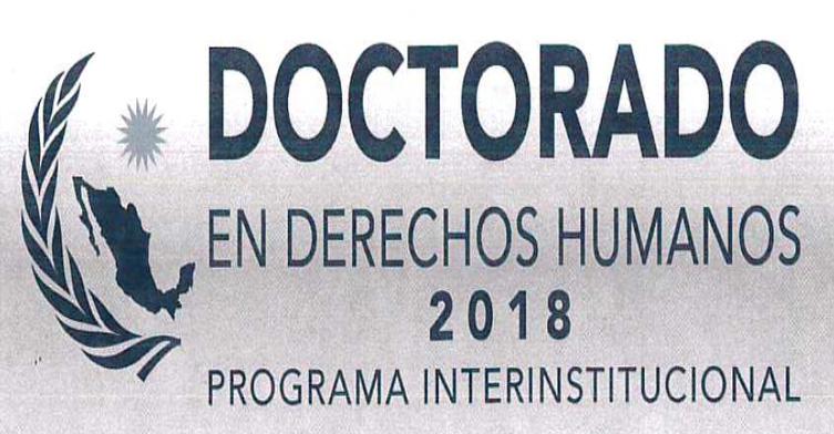 Convocatoria al Doctorado en Derechos Humanos 2018