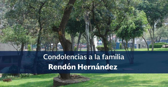 Esquela para la familia Rendón Hernández