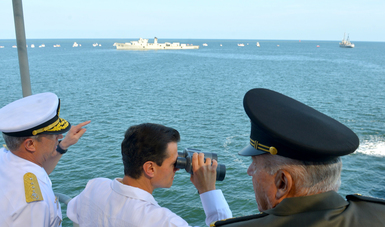 El Primer Mandatario atestiguó el Vertimiento Controlado del Casco del Ex Buque ARM Comodoro Manuel Azueta en Veracruz. Autor