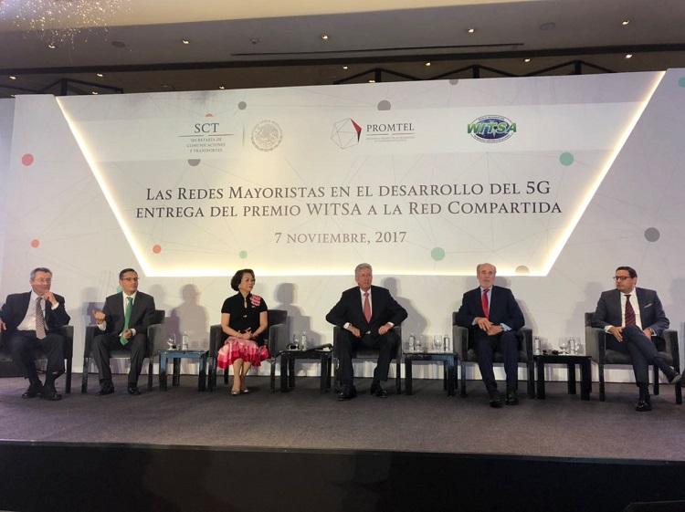 México recibe premio WITSA por el proyecto Red Compartida.