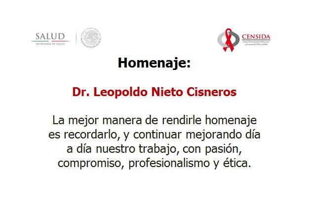 Homenaje al Dr. Leopoldo Nieto Cisneros