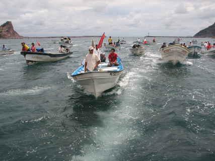 Embarcaciones pesqueras menores.
