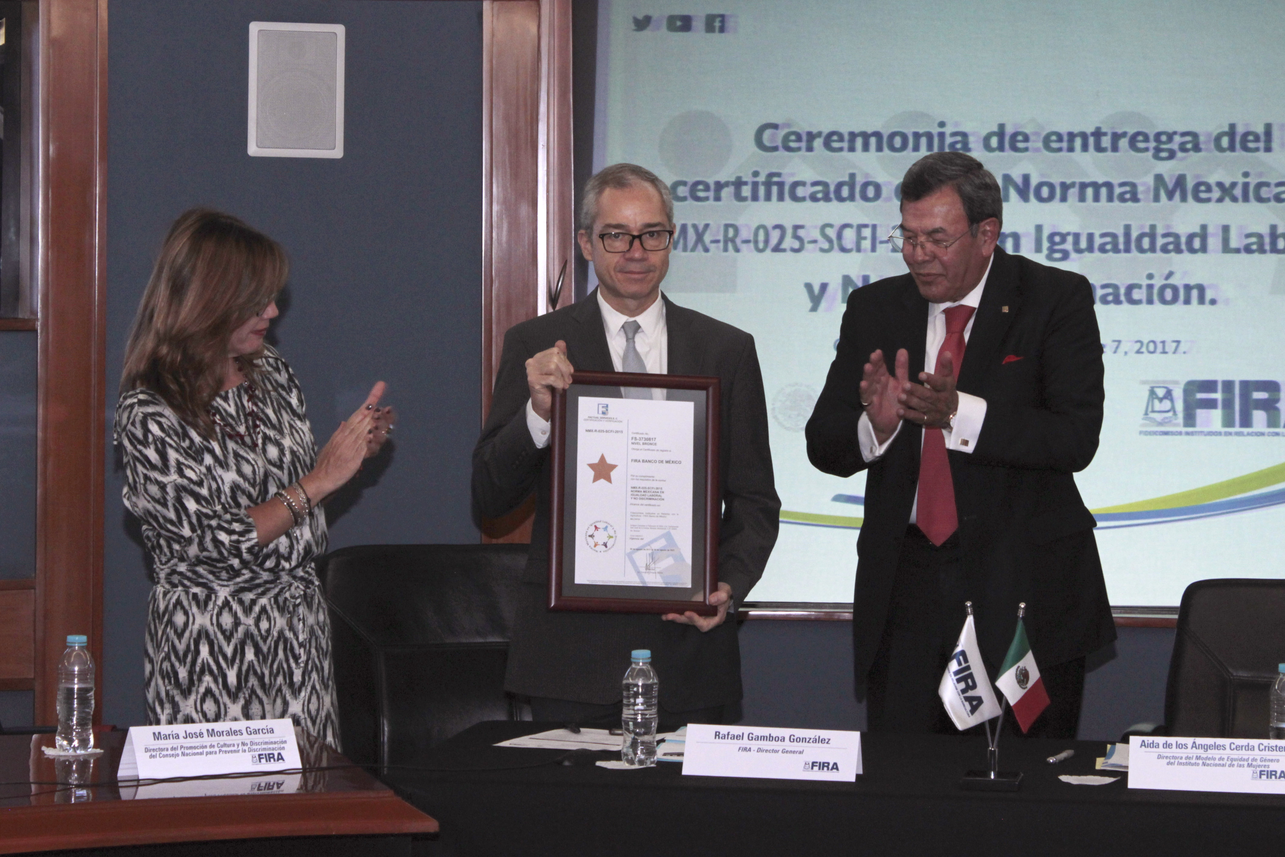 FIRA Obtiene el Certificado a la Norma Mexicana en Igualdad Laboral y No Discriminación 2017 – 2021