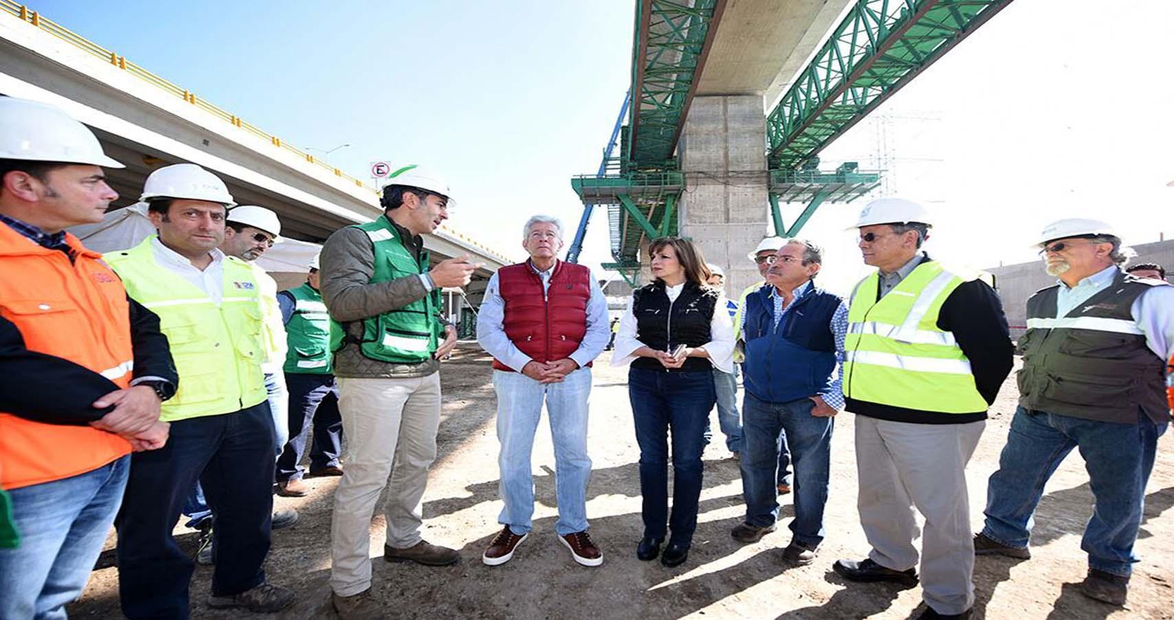 Avances de la construcción del Tren México Toluca