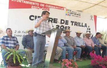 Encabeza Delegado Cierre de Trilla en Cuernavaca, Buscarán Hacer Potencia Agropecuaria al Municipio