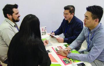 Mesas de negocios en la México Alimentaria