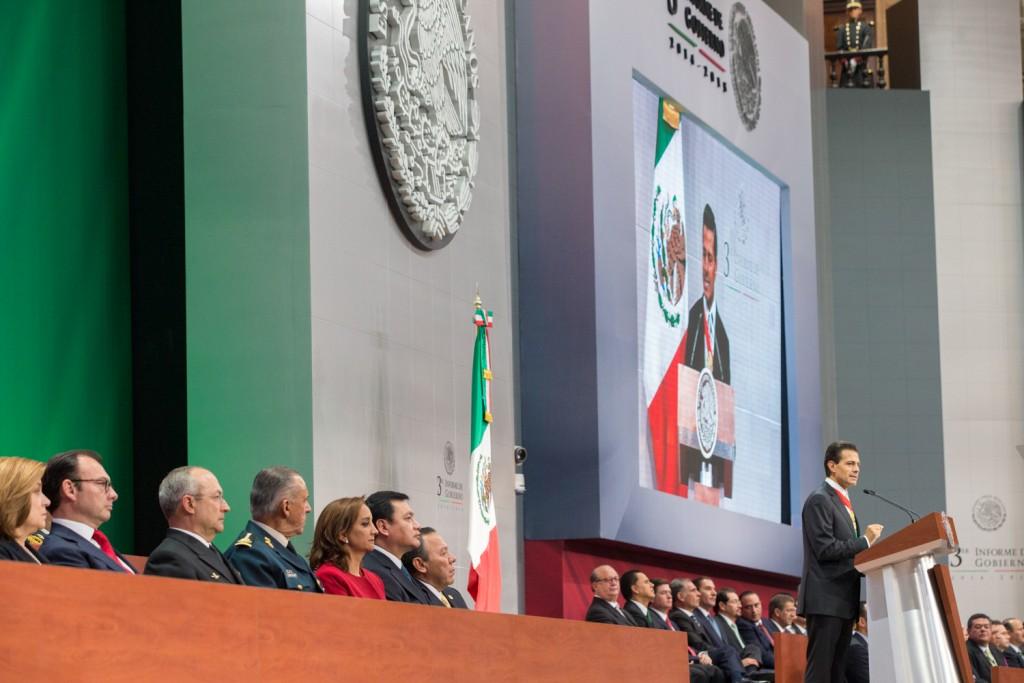 El Presidente Enrique Peña Nieto en la presentación del Tercer Informe de Gobierno
