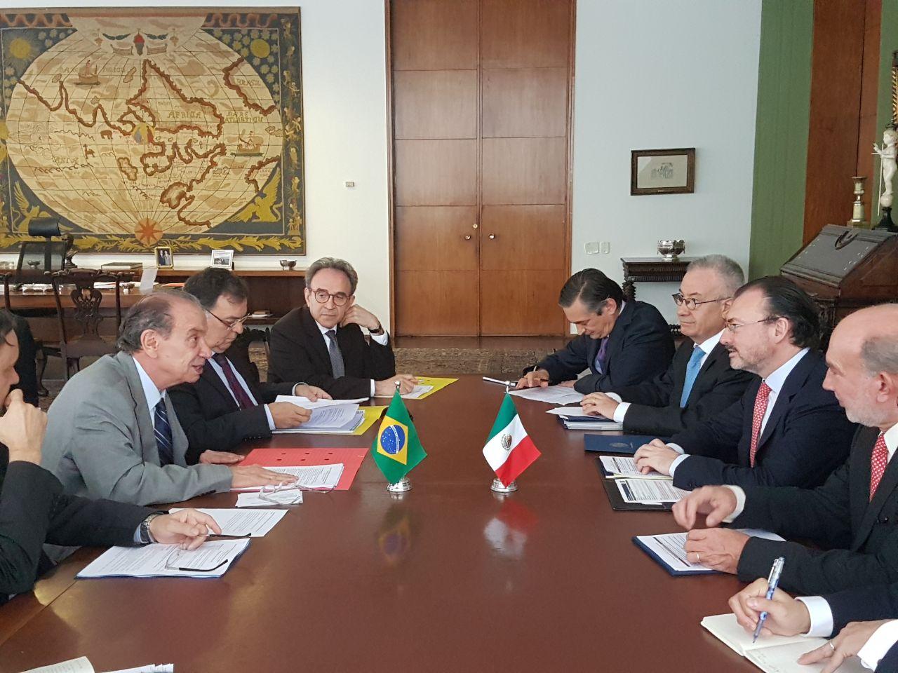 El Secretario de Relaciones Exteriores, Luis Videgaray Caso con el Canciller Aloysio Nunes