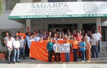 La Delegación en Nuevo León de la SAGARPA se pinta de naranja