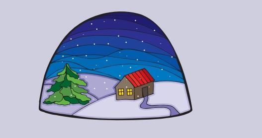 Imagen de casa y nieve del fascículo de heladas