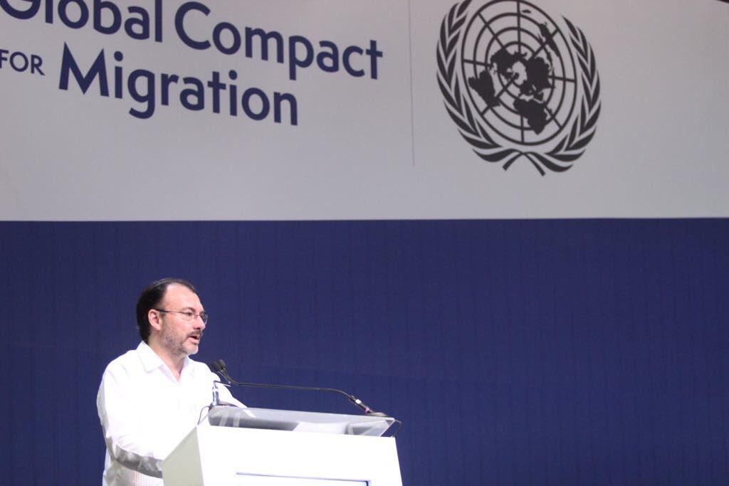 """Mensaje del Canciller Luis Videgaray Caso en la inauguración del evento """"Global Compact for Migration"""""""