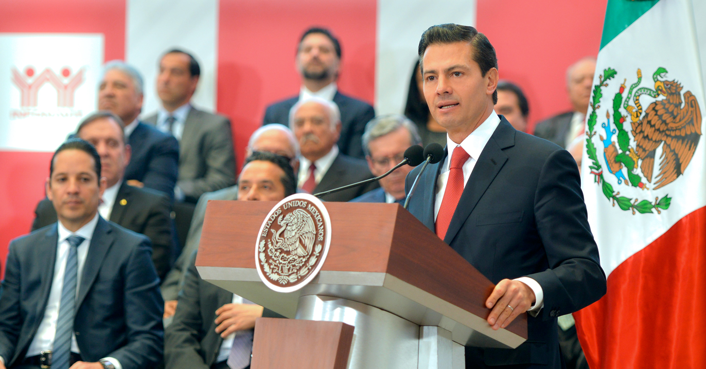 El Presidente de la República, Enrique Peña Nieto, clausuró la 115ª Asamblea General del INFONAVIT.