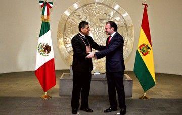 El Canciller del Estado Plurinacional de Bolivia, Fernando Huanacuni, realiza visita oficial a México