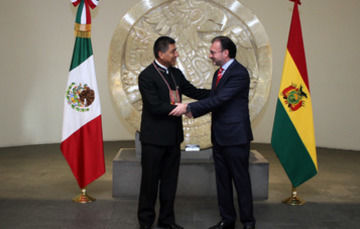 Bolivia's Foreign Minister Fernando Huanacuni on Official Visit to Mexico