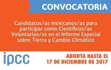 Convocatoria IPCC abierta hasta el 17 de diciembre de 2017