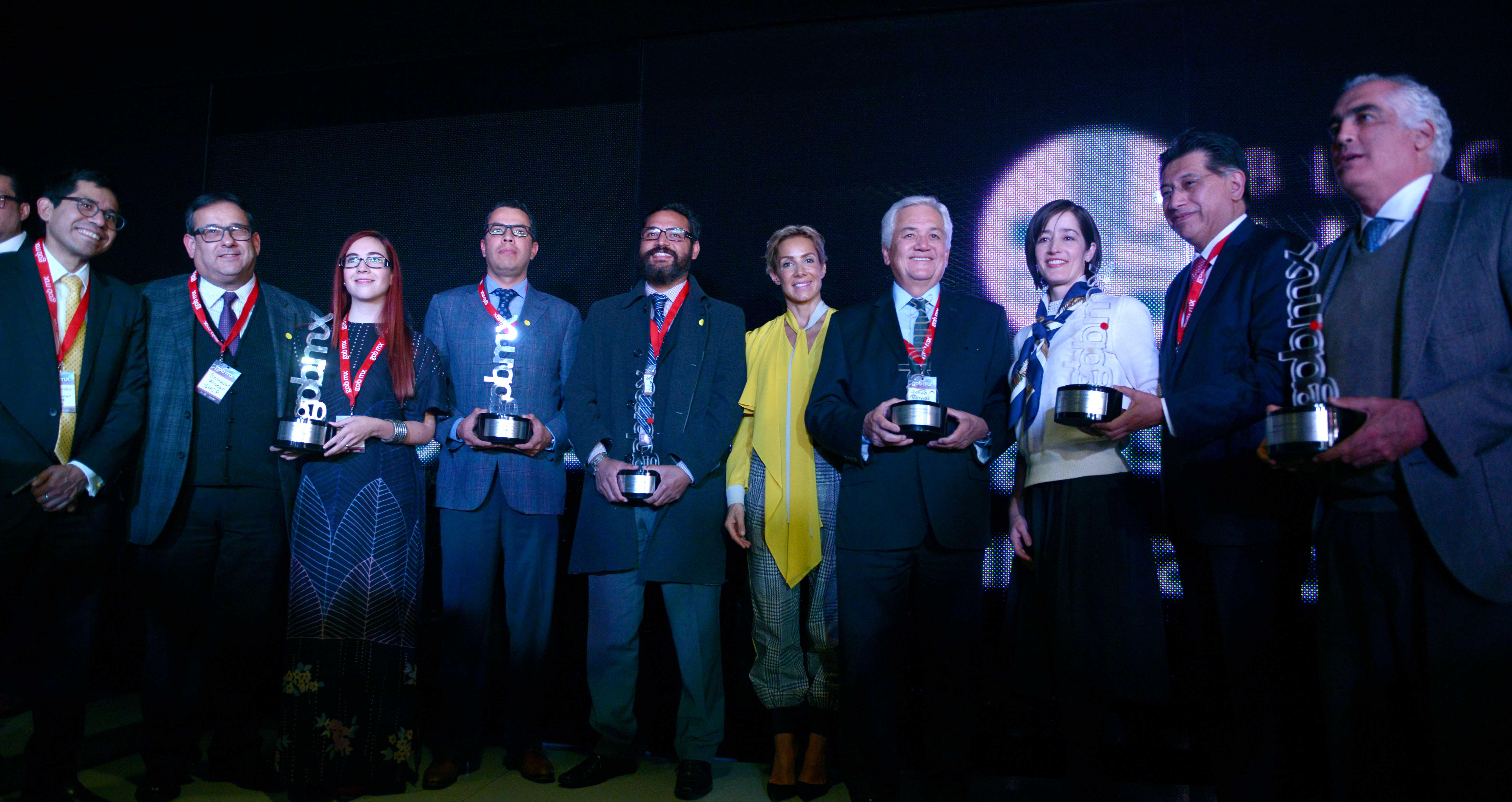Premiados en la ceremonia de reconocimientos GOB.MX