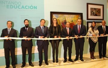 """""""Pintando la educación"""", en el Museo Internacional del Barroco, en Puebla."""