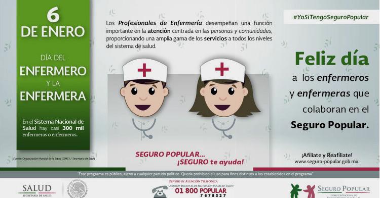 """Infografía del 6 de enero de 2017, """"Día del Enfermero y la Enfermera"""""""