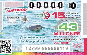 La Lotería Nacional dedica sorteo a la vaquita marina