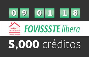 Libera FOVISSSTE los primeros cinco  mil créditos tradicionales por puntaje en 2018