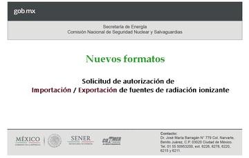 Formatos de Importación / Exportación