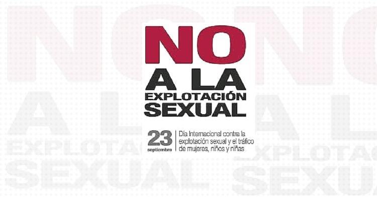 Logotipo del Día Internacional contra la explotación sexual y el tráfico de mujeres, niños y niñas