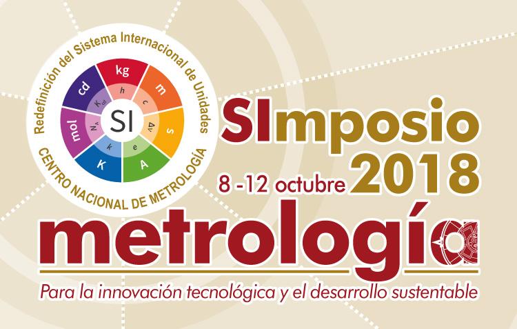 Logotipo utilizado para difundir el Simposio de Metrología.