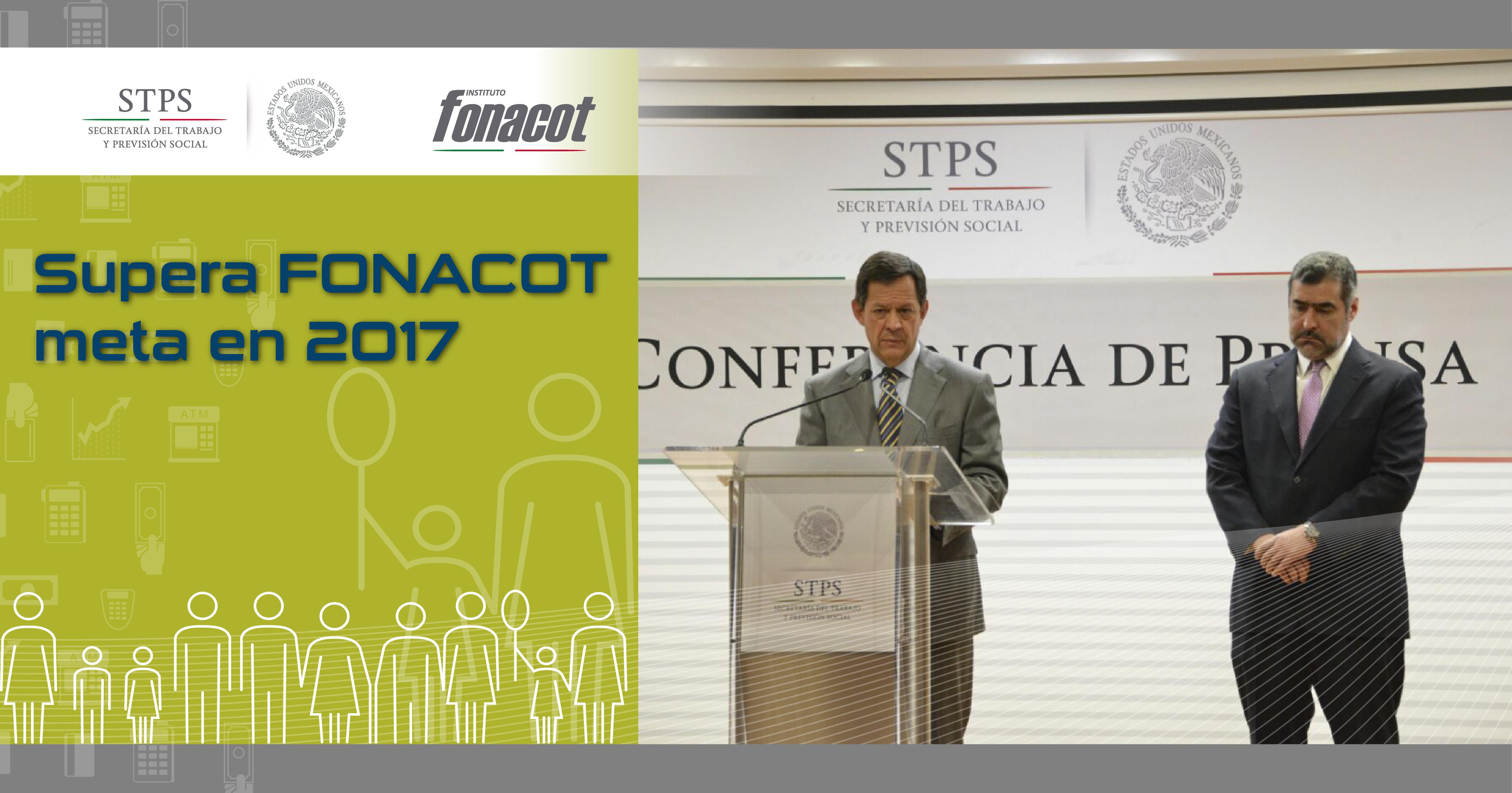El Secretario del Trabajo y Previsión Social, Roberto Campa Cifrián junto con César Martínez Baranda, titular del INFONACOT, habla sobre logros y resultados del Instituto en conferencia de prensa