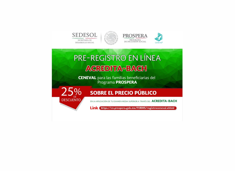 PRE-REGISTRO EN LÍNEA ACREDITA-BACH CENEVAL