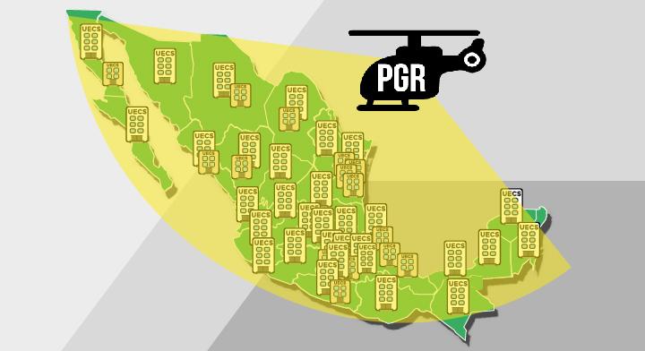 Ilustración de la República Mexicana y un helicóptero.
