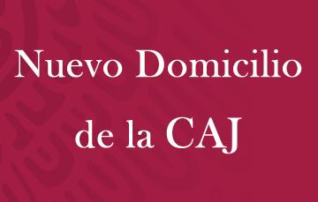 Mensajes AEFCM nuevo domicilio de la CAJ