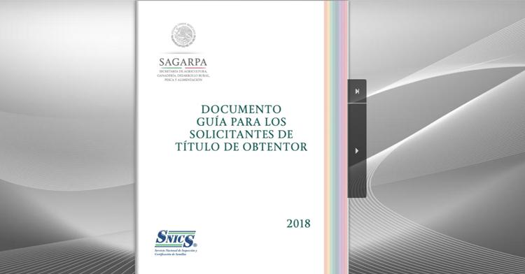 Documento guía para los solicitantes de título de obtentor