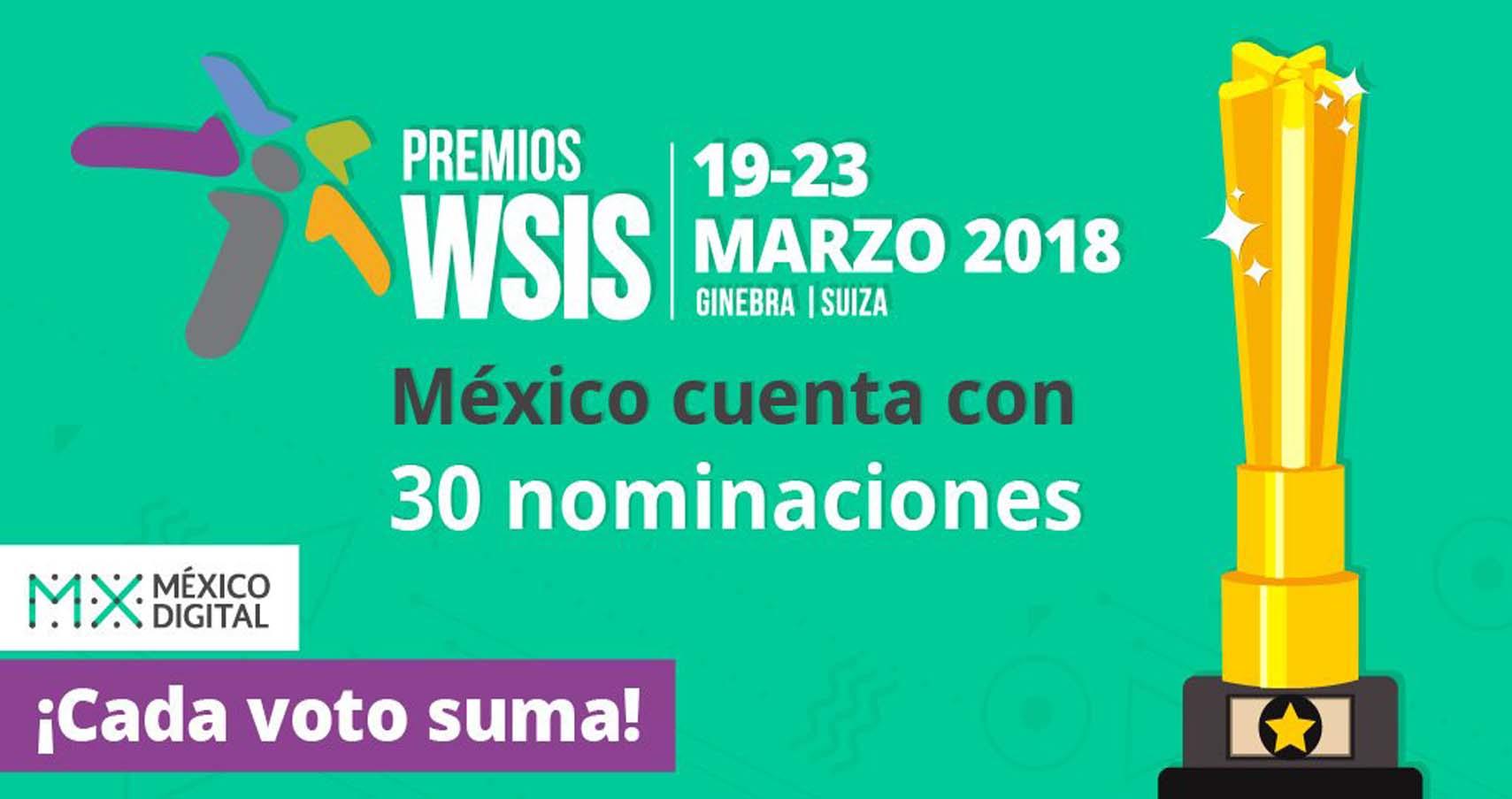 México en los Premios WSIS 2018