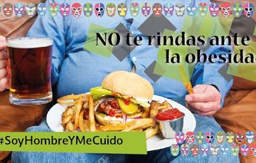 Combate la Obesidad. #SoyHombreYMeCuido