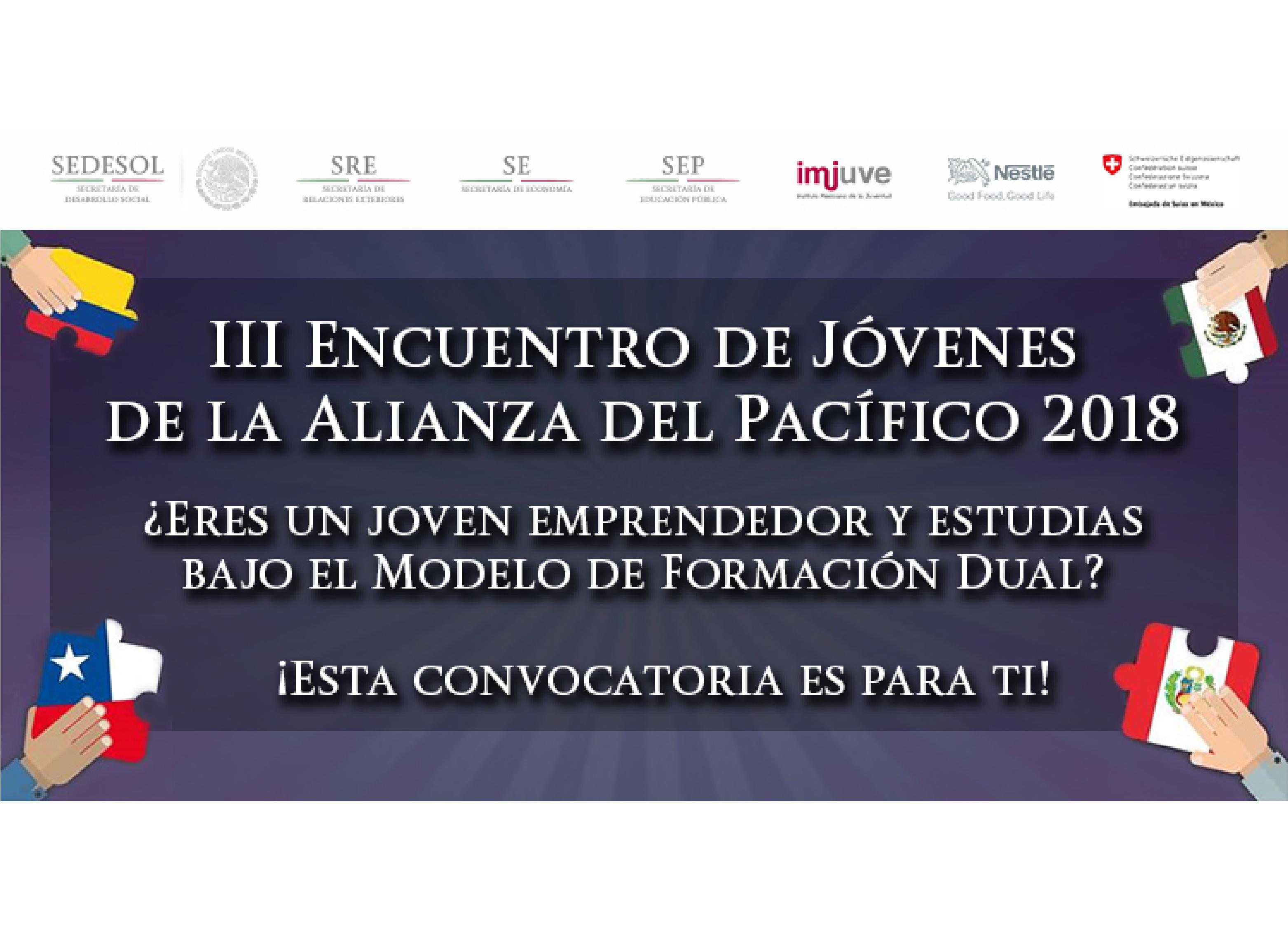 Convocatoria: III Encuentro de Jóvenes de la Alianza del Pacífico 2018.