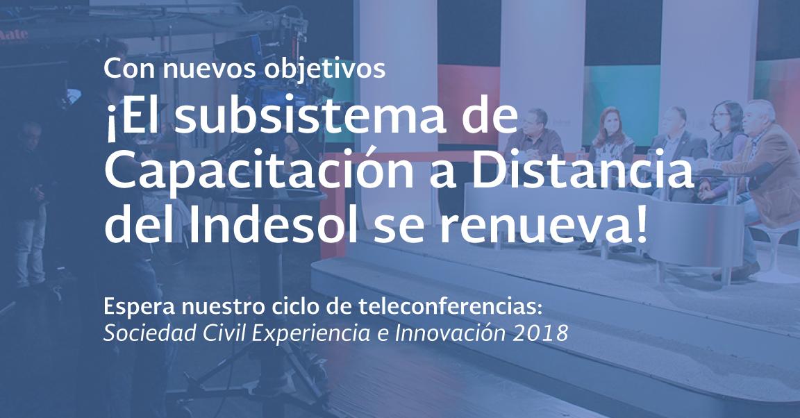 Próximamente el Indesol iniciará oferta de capacitación para el fortalecimiento de las OSC