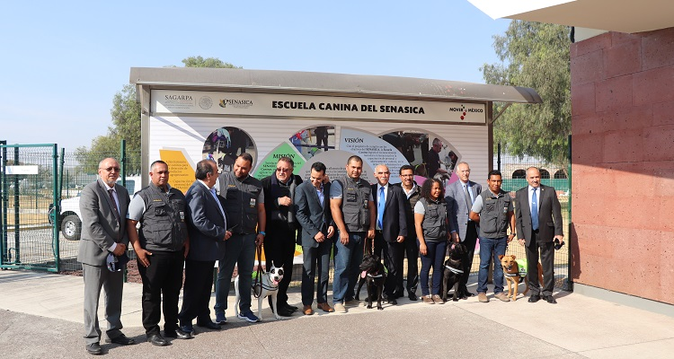 Se gradúa la Generación 20 de la Escuela Canina del SENASICA, y entrega cuatro Unidades Caninas al Ministerio de Agricultura de Panamá.
