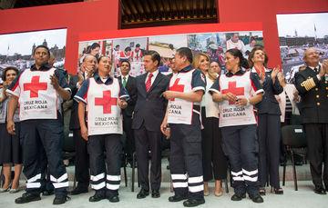Reconoce Presidente Enrique Peña Niento la labor altruista y humanitaria de la Cruz Roja Mexicana, llama a la población para participar en la Colecta Nacional.