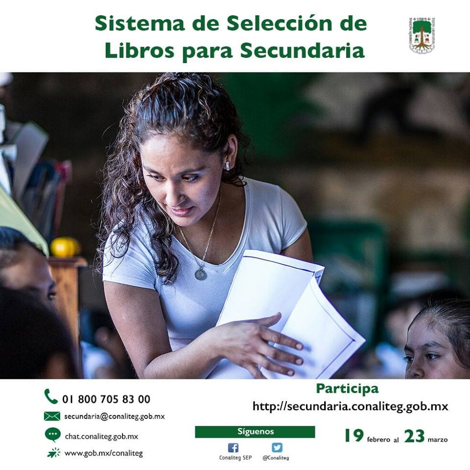 Selección de libros de texto gratuitos para secundaria, ciclo 2018-2019