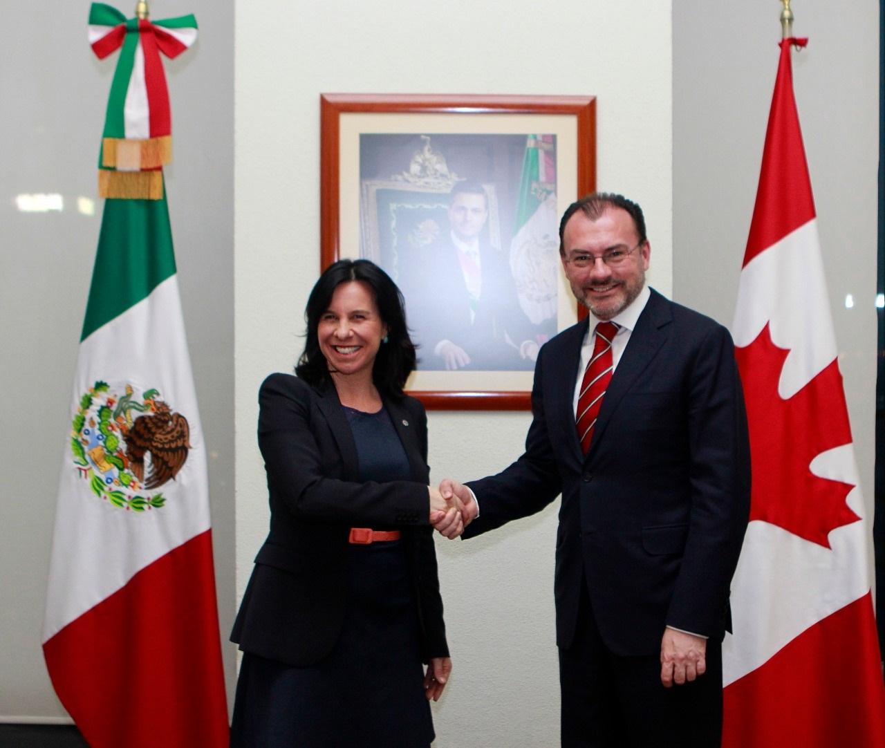 El Canciller Luis Videgaray sostuvo una reunión con la Alcaldesa de Montreal, Valérie Plante
