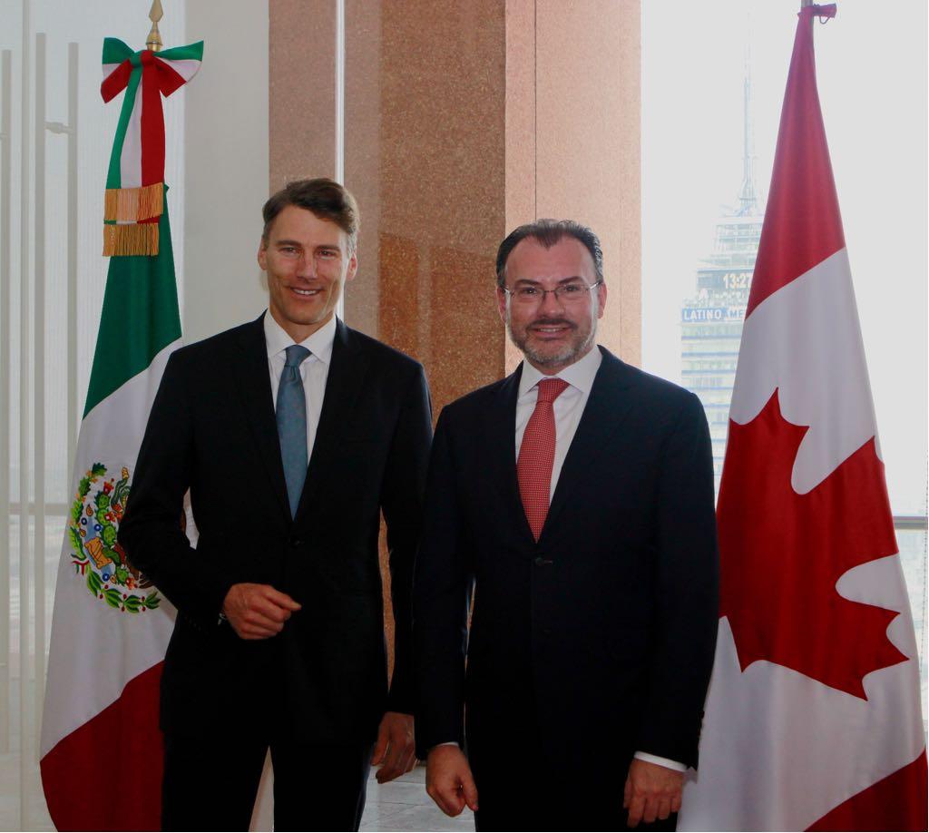 El Canciller Luis Videgaray se reunió con el Alcalde de Vancouver, Gregor Robertson