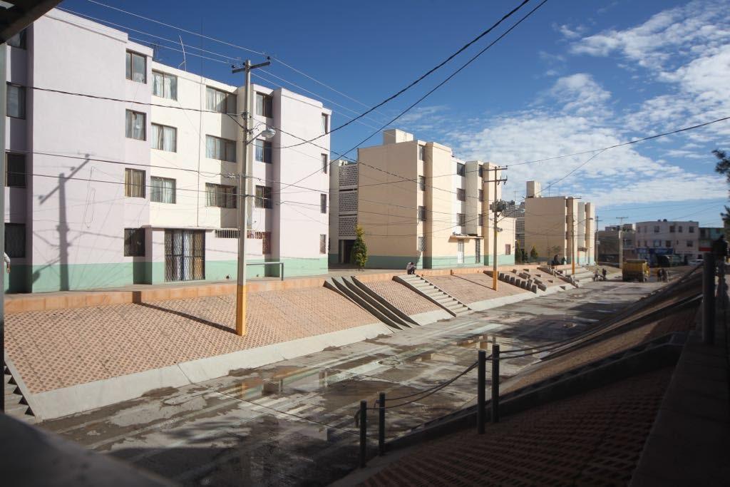 Panorámica de Unidad habitacional donde se realizaron acciones de vivienda